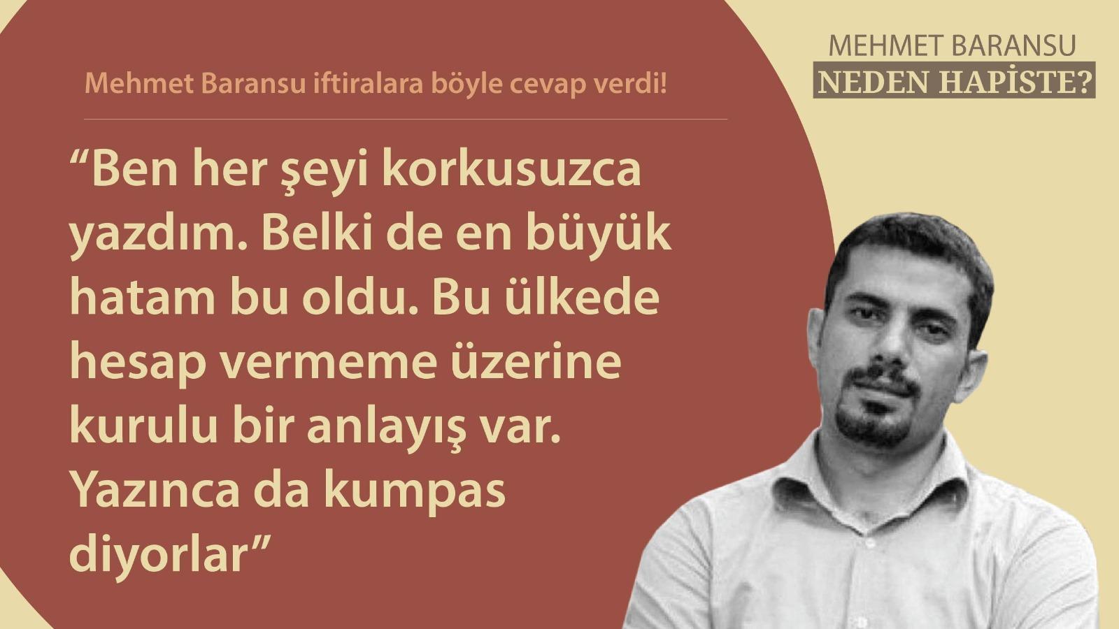 Binlerce kişi gazeteci Baransu'nun özgürlüğüne kavuşması için mesaj attı 3